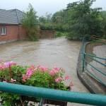 Beim Vitustor an der Vechtebrücke hatte man einen guten Blick auf die Wassermassen.